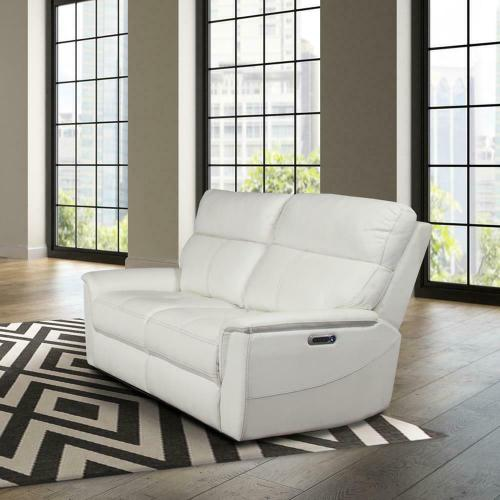Parker House - REED - PURE WHITE Power Loveseat