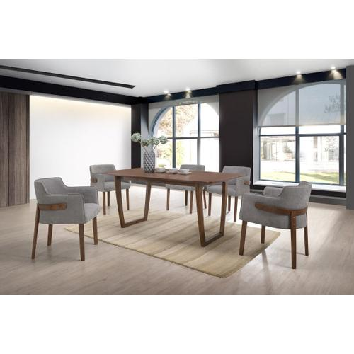VIG Furniture - Modrest Jordan Modern Walnut & Grey Dining Set