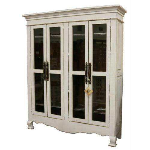 Million Dollar Rustic - Weathered White Armoire 15w Inside