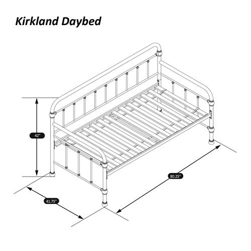 Kirkland Daybed With Frame - Oiled Bronze