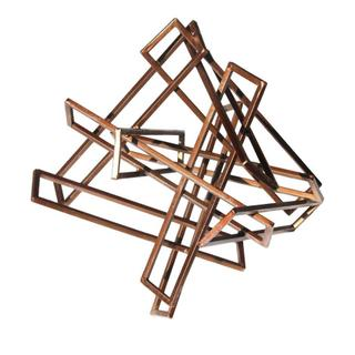 Tangled Rectangles Sculpture Gold Large