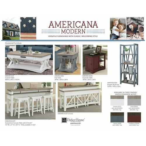 AMERICANA MODERN - COTTON Workstation with LED Light