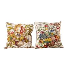 """See Details - 26"""" Square Cotton Printed Pillow, 2 Styles"""