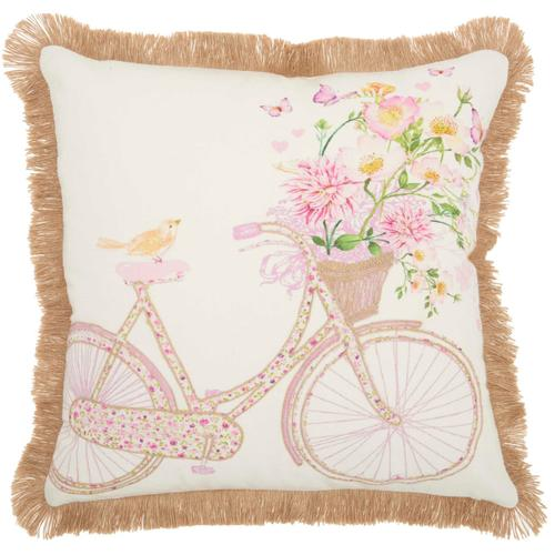"""Life Styles Hw444 Multicolor 18"""" X 18"""" Throw Pillow"""