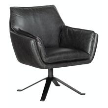 Living Room Limber Metal Base Swivel Club Chair