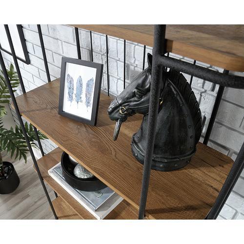 Tall Industrial 5-Shelf Bookcase