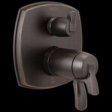 Venetian Bronze 17 Thermostatic Integrated Diverter Trim with Three Function Diverter Less Diverter Handle
