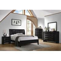 Briana Black Queen Five-piece Bedroom Set Product Image