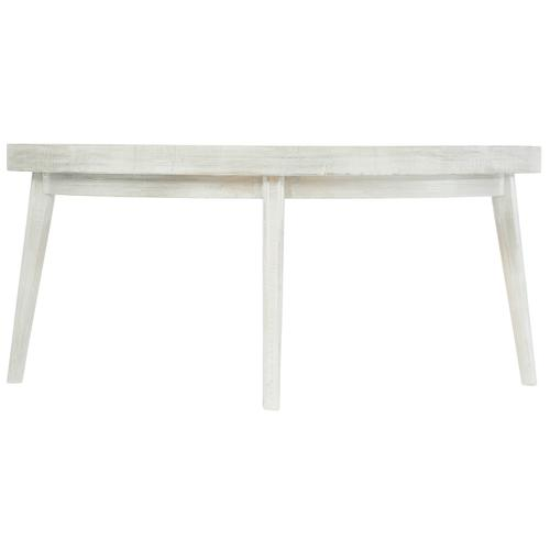 Booker Round Cocktail Table in Brushed White