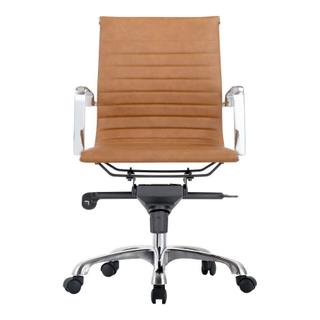 See Details - Omega Swivel Office Chair Low Back Tan