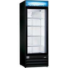 Digital Cabinets Glass Door Merchandiser, 24 cu.ft, Black