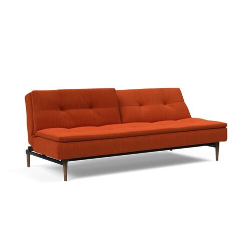 "DUBLEXO SOFA, 45""X83""/SP SOFA LEGS, METAL BARS/SP STYLETTO HL WALNUT"