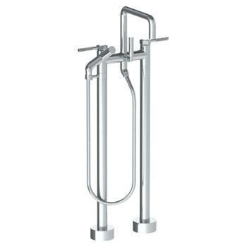 Floor Standing Square Bath Set With Slim Hand Shower
