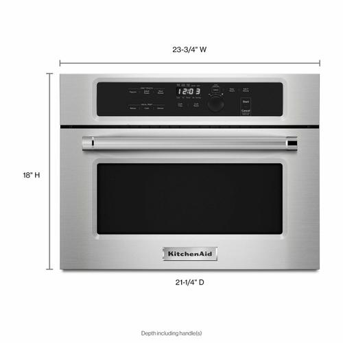 """KitchenAid - 24"""" Built In Microwave Oven with 1000 Watt Cooking - Stainless Steel"""