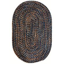 Team Spirit Navy Orange Braided Rugs