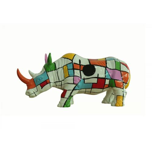 Gallery - Modrest Abstract Colorful Rhino Sculpture
