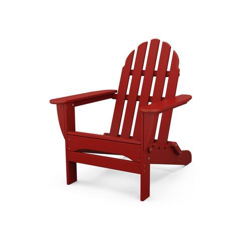 Crimson Red Classic Folding Adirondack Chair