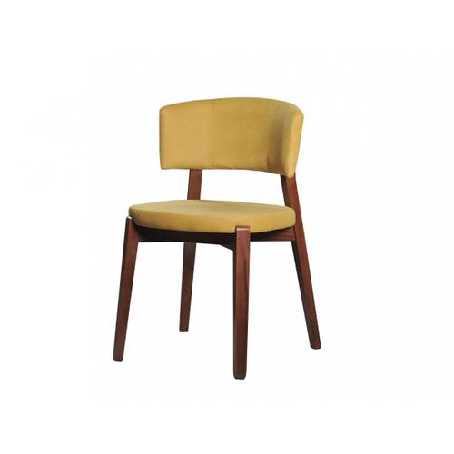 Gallery - Modrest Legacy - Modern Yellow Fabric Dining Chair (Set of 2)