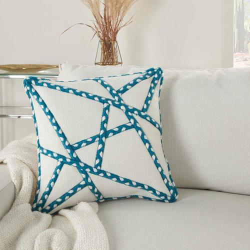 """Outdoor Pillows Vj006 Turquoise 18"""" X 18"""" Throw Pillow"""