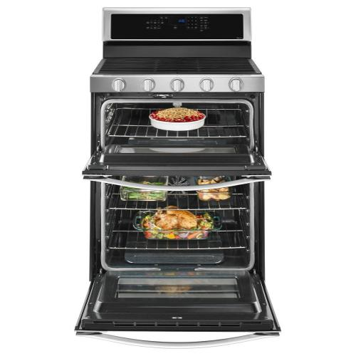 Whirlpool® 6.0 Cu. Ft. Gas Double Oven Range with Center Oval Burner