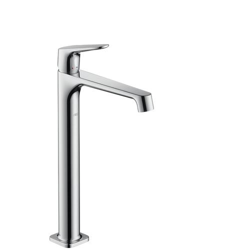 Chrome Single lever basin mixer 250 for wash bowls with waste set