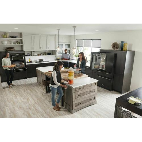 """30"""" Combination Wall Oven with Even-Heat True Convection (Lower Oven) Black"""
