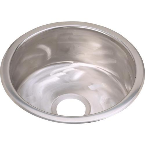 """Elkay - Elkay Stainless Steel 16-3/8"""" x 16-3/8"""" x 7"""", Single Bowl Dual Mount Bar Sink Rugged Textured"""