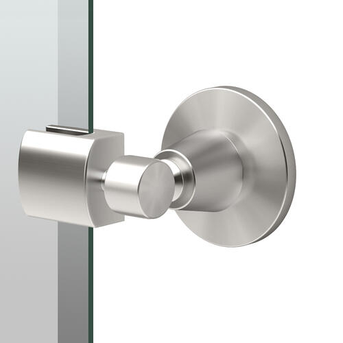 Max Oval Mirror in Satin Nickel