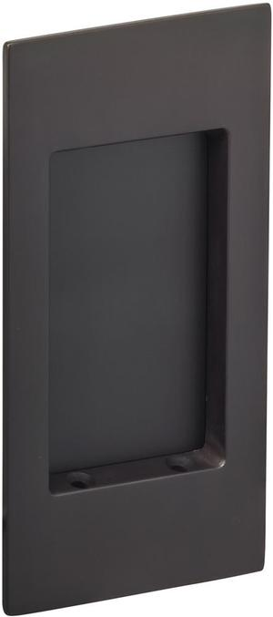 Modern Rectangular Flush Cup in (US10B Black, Oil-Rubbed, Lacquered) Product Image