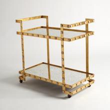 See Details - Quartz Stud Bar Cart-Gold Leaf