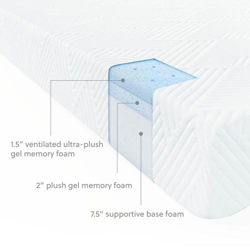 Wellsville 11 Inch Gel Foam Mattress Twin