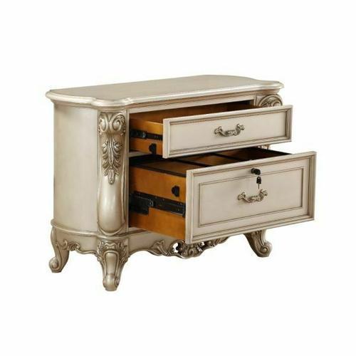 ACME Gorsedd File Cabinet (2 Drw) - 92743 - Traditional - Wood (Poplar), Wood Veneer (Birch) - Antique White