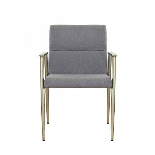 VIG Furniture - Modrest Sabri - Contemporary Grey & Antique Brass Arm Dining Chair