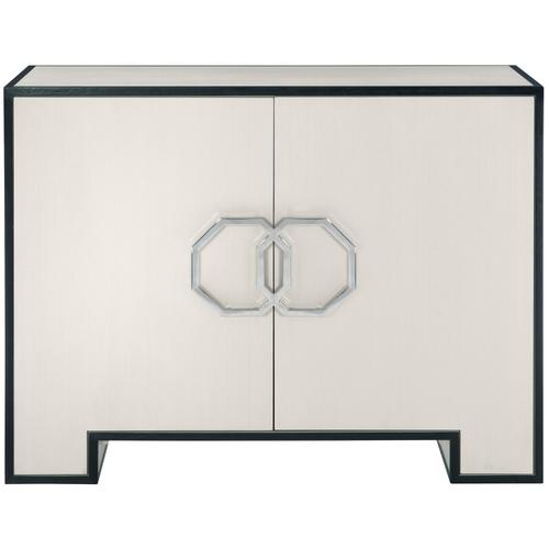 Silhouette Door Chest in Eggshell (307), Onyx (307)