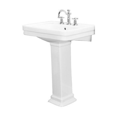 "Sussex 660 Pedestal Lavatory - 4"" Centerset / White"