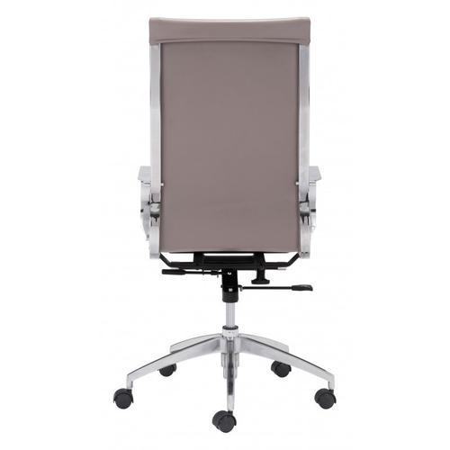 Zuo Modern - Glider High Back Office Chair Taupe