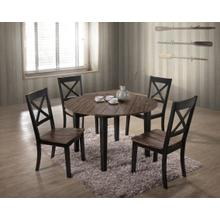 5058 ALACARTE: Black Round Table & 4 Dining Chairs
