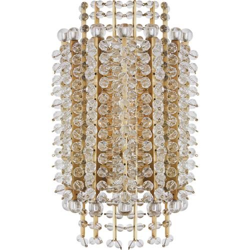 Visual Comfort - AERIN Serafina 1 Light 8 inch Hand-Rubbed Antique Brass Tiered Sconce Wall Light, Small