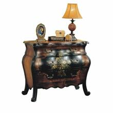 ACME Roma Bombay Chest - 09205 - Antique Black & Oak