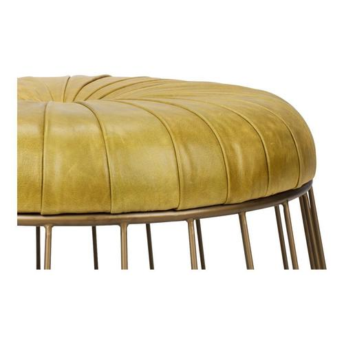 Moe's Home Collection - Radcliffe Leather Ottoman Green