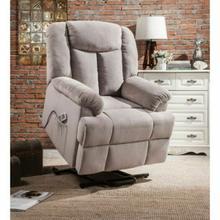 ACME Ixia Recliner w/Power Lift & Massage - 59276 - Light Gray Fabric