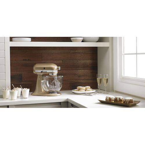 KitchenAid - Artisan® Design Series 5 Quart Tilt-Head Stand Mixer with Glass Bowl Champagne