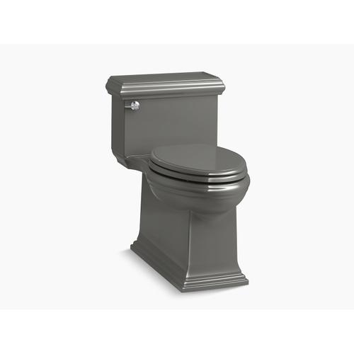 Thunder Grey One-piece Compact Elongated 1.28 Gpf Chair Height Toilet With Slow Close Seat