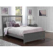 Mission Queen Bed with Matching Foot Board in Atlantic Grey