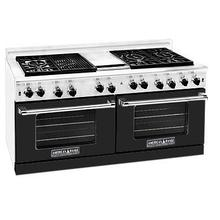 """View Product - Professional 60"""" Residential Range Black Color"""