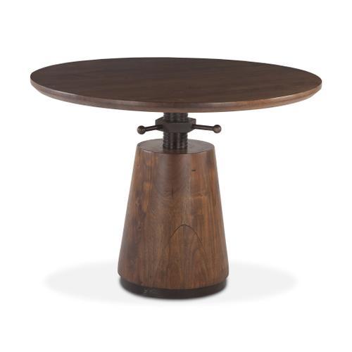"Industrial Modern 40"" Adjustable Round Table Walnut"
