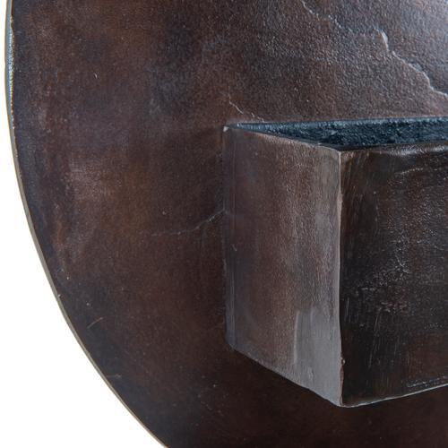 Ozur Circle Wall Planter-antique Rust