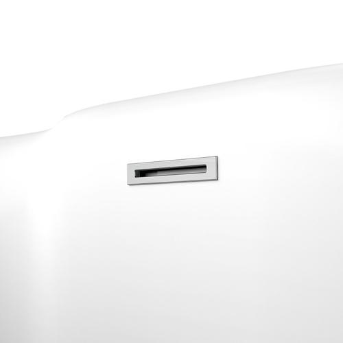 """Onita 67"""" Acrylic Freestanding Tub with Integral Drain - Tap Deck - No Drillings / Polished Chrome Drain and Overflow"""