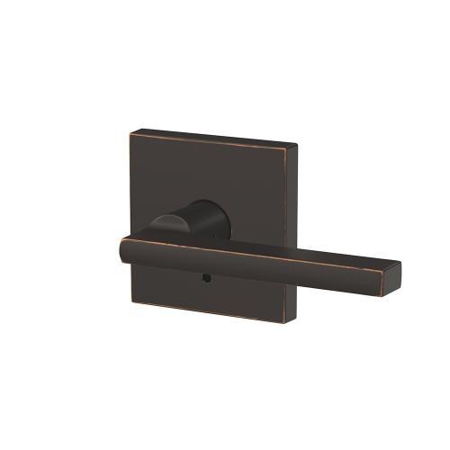 Custom Latitude Non-Turning Lever with Collins Trim - Aged Bronze
