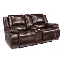 Kaylen Power Reclining Loveseat with Console & Power Headrests
